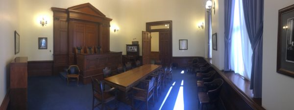Appeals were heard in the Old Nevada Supreme Court Chambers in the Nevada Capitol Building until 1937. Today, the Nevada Supreme Court has it's own separate building at 201 South Carson Street, Suite 250 Carson City, NV 89701-4702.